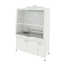 Fume cupboard with 1 sink and explosion-proof electrical equipment (stainless steel, white metal) 1520х750х2190 mm