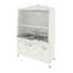 Fume cupboard with 2 sinks and explosion-proof electrical equipment (durcon, white metal) 1520х750х2190 mm