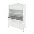 Fume cupboard with water inlet and electrical equipment (monolithic ceramic, white metal) 1500х750х2190 mm