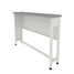 Auxiliary bench without water inlet (grey laminate, white metal) 1200x250x850 mm