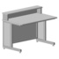 Teacher table with shelf 1200х750х950 mm (grey laminate) assembled