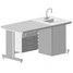 Demonstration bench with suspended cabinet, electrical equipment and water inlet 1515х750х760 mm (ceramic)